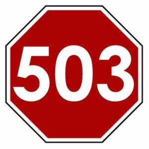 Use A 503 Over Cyber Weekend